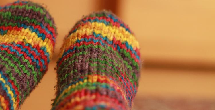 Knitted socks