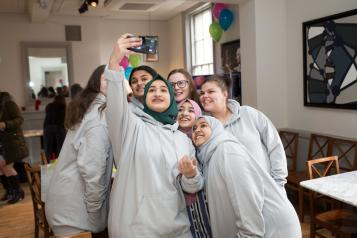 Picture of young people taking a selfie
